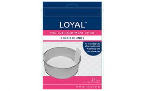 Parchment Paper Pre-Cut With Tabs - Round 150mm/6 Inch