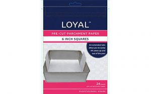 Square Parchment Paper Pre-Cut With Tabs - 150mm / 6 Inch