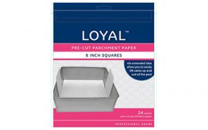 Square Parchment Paper Pre-Cut With Tabs - 200mm / 8 Inch