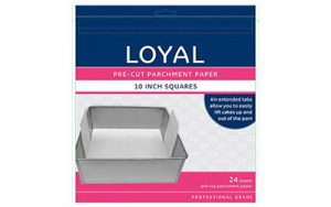 Square Parchment Paper Pre-Cut With Tabs - 250mm / 10 Inch