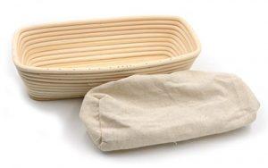 Banneton Proofing Basket & Liner - Rectangular 26cm x 15cm